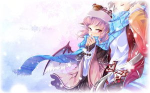 Rating: Safe Score: 65 Tags: fujiwara_no_mokou hong_(white_spider) mystia_lorelei scarf touhou wings winter User: Wiresetc
