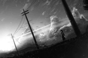 Rating: Safe Score: 54 Tags: dark monochrome scenic sunset tagme_(artist) User: luckyluna