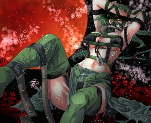 Rating: Safe Score: 197 Tags: anthropomorphism bondage breasts cleavage green_hair moon pokemon rathke tyranitar User: opai