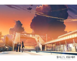 Rating: Safe Score: 34 Tags: clouds fujisawa_hiroki kneehighs kumo_no_mukou_yakusoku_no_basho male sawatari_sayuri school_uniform shinkai_makoto shirakawa_takuya sky sunset train User: Oyashiro-sama