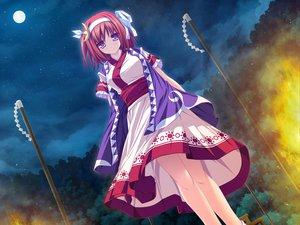 Rating: Safe Score: 77 Tags: blush game_cg japanese_clothes jpeg_artifacts moon night purple_eyes red_hair suzukaze_no_melt tenmaso tsubaki_nazuna whirlpool User: acucar11