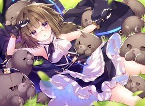 Rating: Safe Score: 22 Tags: animal apron blush brown_hair dress glasses gloves grass kabocha_usagi purple_eyes red:_pride_of_eden tagme_(character) waifu2x User: BattlequeenYume