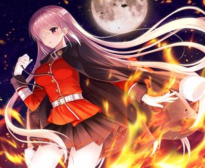 Rating: Safe Score: 52 Tags: bandage blush ecu8080 eyepatch fate/grand_order fate_(series) fire florence_nightingale gloves long_hair moon night pink_hair red_eyes skirt stars User: BattlequeenYume
