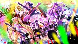 Rating: Safe Score: 110 Tags: aliasing animal_ears blonde_hair blue_hair blush bunny bunny_ears bunnygirl catgirl chuchu_(show_by_rock!!) doggirl dress drums garter glasses green_eyes group guitar hijirikawa_cyan instrument kneehighs long_hair microphone moa_(show_by_rock!!) pink_eyes purple_hair retoree_(show_by_rock!!) school_uniform sheepgirl short_hair show_by_rock!! skirt stockings swordsouls tail thighhighs tie twintails yellow_eyes User: Flandre93