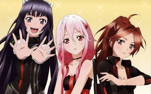 Rating: Safe Score: 120 Tags: brown_eyes brown_hair choker cleavage guilty_crown long_hair pink_hair ponytail red_eyes scan shinomiya_ayase tsugumi yuzuriha_inori User: meccrain