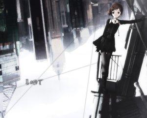 Rating: Safe Score: 90 Tags: boots brown_eyes brown_hair building city dark dress gloves gothic short_hair yoshida_seiji User: Oyashiro-sama