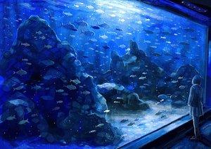 Rating: Safe Score: 77 Tags: animal blue fish nomiya_(no_38) original skirt User: Flandre93