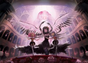 Rating: Safe Score: 166 Tags: akemi_homura akuma_homura black_hair blackrabbitsoul bow braids doll dress elbow_gloves flowers glasses gloves headband instrument kaname_madoka long_hair mahou_shoujo_madoka_magica mahou_shoujo_madoka_magica_movie pink_hair puppet red_eyes rose school_uniform short_hair skirt thighhighs twintails ultimate_madoka wings User: Flandre93