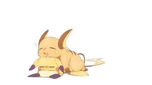 Rating: Safe Score: 129 Tags: pichu pikachu pokemon raichu sleeping tagme_(artist) white User: Medzy