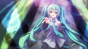 Rating: Safe Score: 31 Tags: hatsune_miku kakeyu long_hair twintails vocaloid User: sadodere-chan