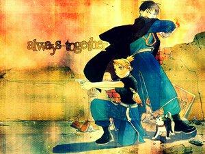 Rating: Safe Score: 6 Tags: fullmetal_alchemist gun riza_hawkeye roy_mustang uniform weapon User: Oyashiro-sama