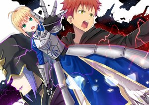 Rating: Safe Score: 13 Tags: armor artoria_pendragon_(all) blonde_hair dress elbow_gloves emiya_shirou fate_(series) fate/stay_night gloves green_eyes kenkaizar male medea_(fate) red_hair saber short_hair yellow_eyes User: RyuZU
