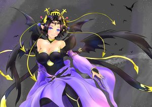 Rating: Safe Score: 29 Tags: animal aqua_eyes bat black_hair blush breasts cleavage digimon lilithmon pointed_ears short_hair tagme_(artist) wings User: luckyluna