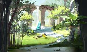 Rating: Safe Score: 36 Tags: animal grass original otton scenic signed water waterfall User: RyuZU