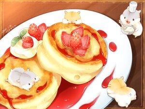 Rating: Safe Score: 12 Tags: animal food fruit hat nobody original signed strawberry yutaka_kana User: otaku_emmy