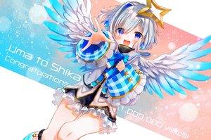 Rating: Safe Score: 29 Tags: amane_kanata angel blush dress gray_hair halo hololive purple_eyes syukonbu wings User: BattlequeenYume
