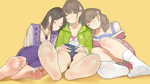 Rating: Safe Score: 33 Tags: barefoot brown_hair game_console himote_house pantyhose sleeping socks yomu_(sgt_epper) User: FormX