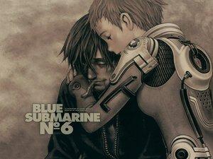 Rating: Safe Score: 29 Tags: blue_submarine_no_6 bodysuit cigarette hayami_tetsu male mayumi_kino polychromatic range_murata realistic watermark User: jorge