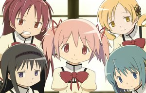 Rating: Safe Score: 15 Tags: akemi_homura aliasing black_hair blonde_hair blue_eyes blue_hair bow group kaname_madoka long_hair mahou_shoujo_madoka_magica miki_sayaka pink_eyes pink_hair purple_eyes red_eyes red_hair ribbons sakura_kyouko school_uniform short_hair takahan tomoe_mami twintails yellow_eyes User: RyuZU