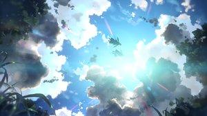 Rating: Safe Score: 179 Tags: clouds kirigaya_kazuto leafa scenic sky sword_art_online wings yuuki_tatsuya User: Flandre93