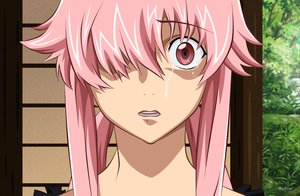 Rating: Safe Score: 78 Tags: close crying gasai_yuno mirai_nikki pink_hair tears vector User: Wiresetc