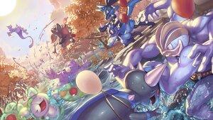 Rating: Safe Score: 26 Tags: autumn forest lucario machamp mewtwo muk nobody pokemon rampardos reuniclus riolu spareribs tree water zoroark User: otaku_emmy