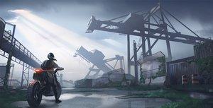 Rating: Safe Score: 37 Tags: clouds gan-viking industrial motorcycle original ruins scenic sky User: mattiasc02