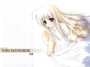 Rating: Safe Score: 17 Tags: blonde_hair blue_eyes blush long_hair natunomori_towa ooji te_no_hira_wo_taiyou_ni watermark User: Oyashiro-sama