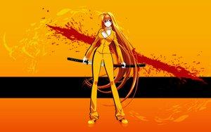 Rating: Safe Score: 63 Tags: blood kill_bill natsume_aya orange parody sword tenjou_tenge weapon User: keke
