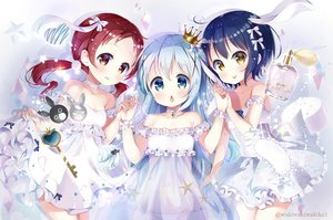 Rating: Safe Score: 52 Tags: aliasing anko_(gochiusa) aqua_eyes aqua_hair blue_hair blush bow brown_eyes collar crown dress gochuumon_wa_usagi_desu_ka? jouga_maya kafuu_chino loli long_hair natsu_megumi neki_(wakiko) red_hair short_hair skirt_lift tippy_(gochiusa) twintails watermark wild_geese wristwear User: RyuZU