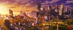 Rating: Safe Score: 113 Tags: landscape original ruins scenic sky stars sunset tokyogenso User: Avenger