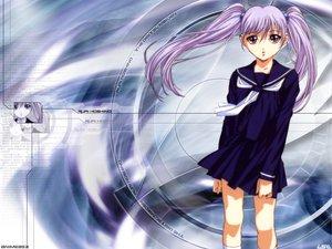 Rating: Safe Score: 2 Tags: gotoh_keiji gray_hair hoshino_ruri long_hair martian_successor_nadesico purple school_uniform twintails yellow_eyes User: Oyashiro-sama