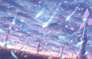 Rating: Safe Score: 53 Tags: bou_nin braids clouds dress landscape long_hair original polychromatic scenic sky windmill User: Flandre93