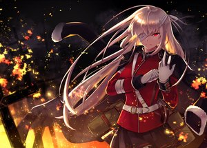 Rating: Safe Score: 78 Tags: bandage eyepatch fate/grand_order fate_(series) fire florence_nightingale gloves itsumi_mita long_hair military pink_hair red_eyes skirt User: otaku_emmy