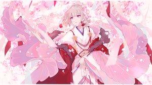 Rating: Safe Score: 31 Tags: cherry_blossoms fan flowers gray_hair headdress japanese_clothes kimono miyuki_(miyuki_05290) onmyouji petals pink_eyes short_hair User: RyuZU
