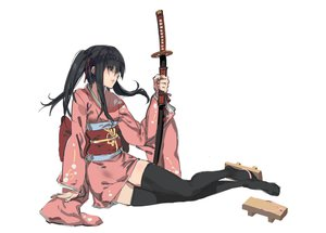 Rating: Safe Score: 173 Tags: gintama japanese_clothes katana kimono kishiyo sword thighhighs weapon yagyuu_kyuubei User: FormX
