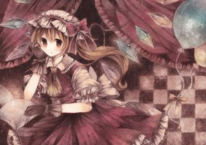 Rating: Safe Score: 71 Tags: blonde_hair dress flandre_scarlet gloves hat polychromatic red_eyes touhou vampire wings wiriam07 User: C4R10Z123GT