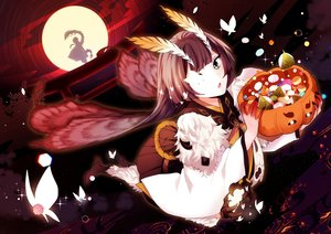 Rating: Safe Score: 28 Tags: annerica brown_hair butterfly candy green_eyes halloween japanese_clothes long_hair moon mushishi_(onmyouji) night onmyouji sky torii wings User: BattlequeenYume