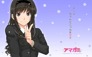 Rating: Safe Score: 62 Tags: amagami black_hair blue_eyes headband morishima_haruka seifuku takayama_kisai User: pantu