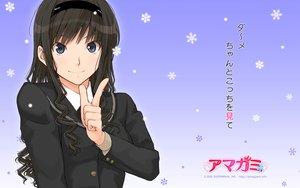 Rating: Safe Score: 82 Tags: amagami black_hair blue_eyes headband morishima_haruka school_uniform takayama_kisai User: pantu