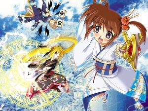 Rating: Safe Score: 20 Tags: fate_testarossa mahou_shoujo_lyrical_nanoha takamachi_nanoha yagami_hayate User: Oyashiro-sama