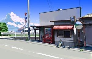 Rating: Safe Score: 83 Tags: clouds coca_cola kurono-kuro original scenic sky tree User: STORM