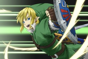 Rating: Safe Score: 3 Tags: all_male aqua_eyes blonde_hair gloves hat link_(zelda) male pointed_ears sanatsume short_hair sword the_legend_of_zelda weapon User: otaku_emmy