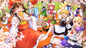 Rating: Safe Score: 19 Tags: 13_(spice!!) animal animal_ears apron bandage blonde_hair blush bow braids brown_hair cat catgirl chain chen cherry_blossoms doggirl dress drink flowers food foxgirl gray_hair green_eyes group hakurei_reimu hat headband horns ibara_kasen ibuki_suika japanese_clothes kirisame_marisa konpaku_youmu long_hair miko multiple_tails myon ofuda orange_eyes petals purple_eyes red_eyes red_hair saigyouji_yuyuko short_hair sleeping socks tail touhou tree witch witch_hat wristwear yakumo_ran yakumo_yukari User: RyuZU