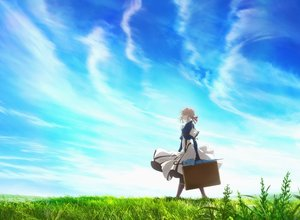 Rating: Safe Score: 41 Tags: blonde_hair blue_eyes braids clouds dress grass short_hair sky tagme_(artist) violet_evergarden violet_evergarden_(character) User: RyuZU