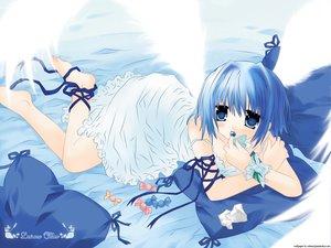 Rating: Safe Score: 34 Tags: angel blue blue_eyes candy dress ribbons sakurazawa_izumi short_hair vector wings User: Oyashiro-sama