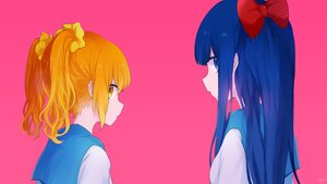 Rating: Safe Score: 34 Tags: 2girls mari_(milkuro) pink pipimi pop_team_epic popuko waifu2x User: FormX