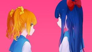 Rating: Safe Score: 43 Tags: 2girls mari_(milkuro) pink pipimi pop_team_epic popuko waifu2x User: FormX