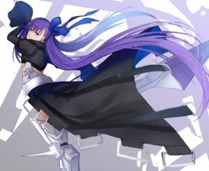 Rating: Safe Score: 39 Tags: armor blue_eyes eisuto fate/extra fate/extra_ccc fate/grand_order fate_(series) long_hair meltryllis purple_hair ribbons skirt User: otaku_emmy