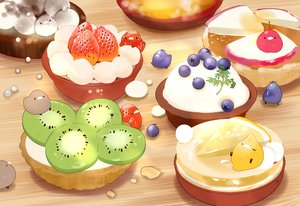 Rating: Safe Score: 10 Tags: animal bird chai_(artist) cherry food fruit nobody original signed strawberry User: otaku_emmy